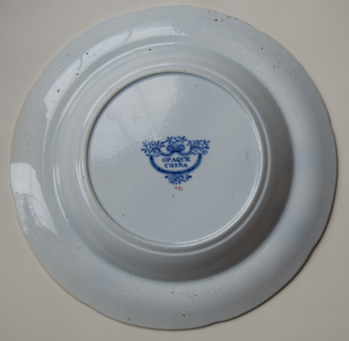 Pattern 1082 soup plate back