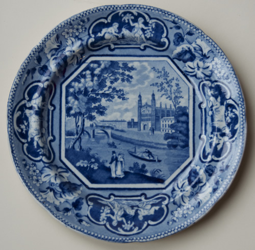 Clare Hall dessert plate front
