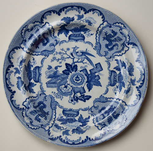 Bird and Wyverns dinner plate front