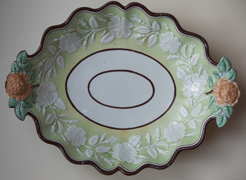 Pattern 626 oval dessert dish front