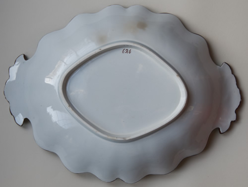 Pattern 626 oval dessert dish back