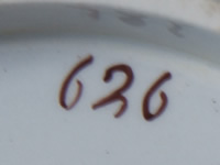 Pattern 626 oval dessert dish pattern number