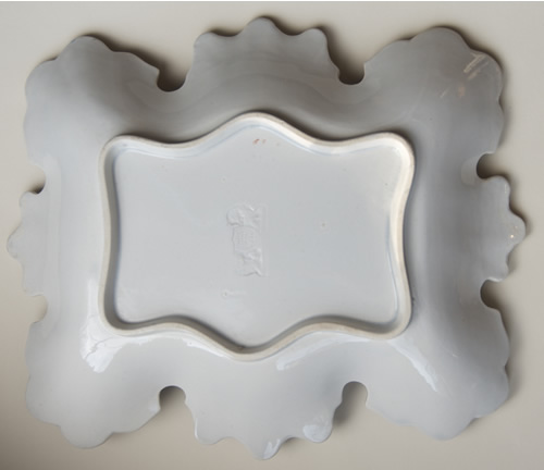 Pattern 530 rectangular dessert dish back