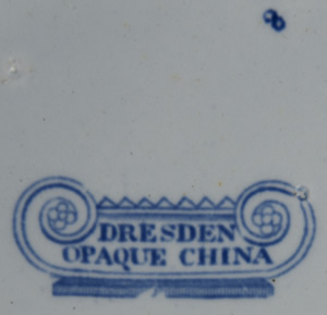 Dresden Opaque China square dessert dish pattern number