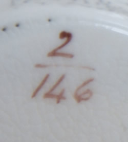 Pattern 2/146 tea cup pattern number