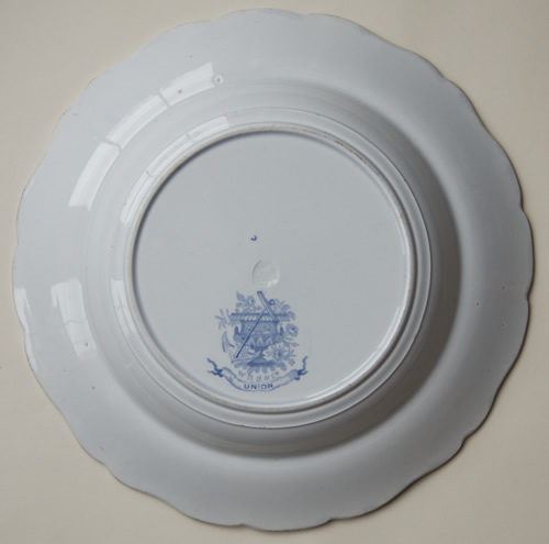 Union soup plate back