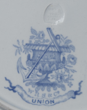Union soup plate marks
