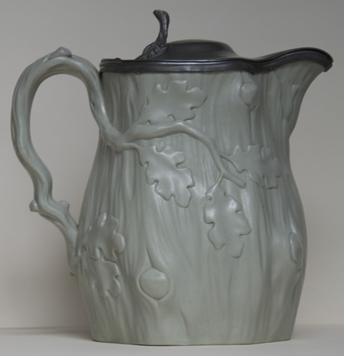 Tree trunk jug green-grey right side