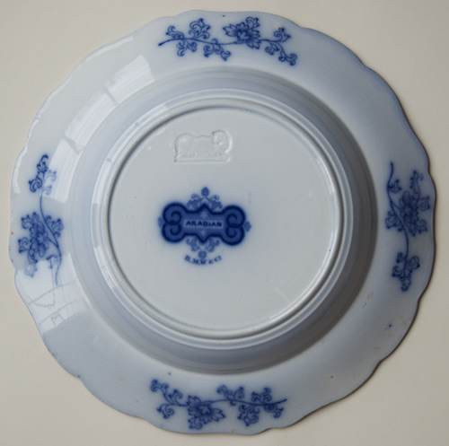 Arabian soup plate back