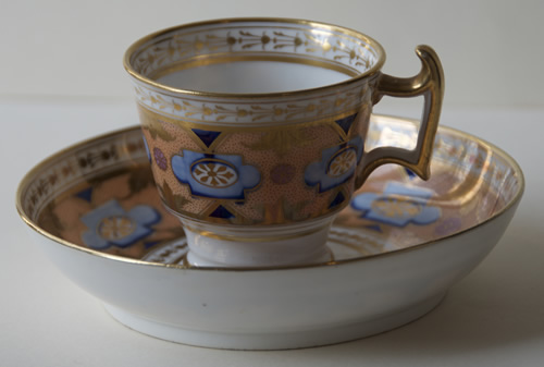 Pattern 487 coffee cup and saucer