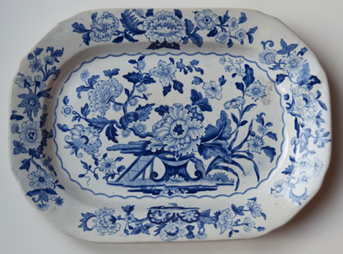 Dresden Opaque China meat dish front