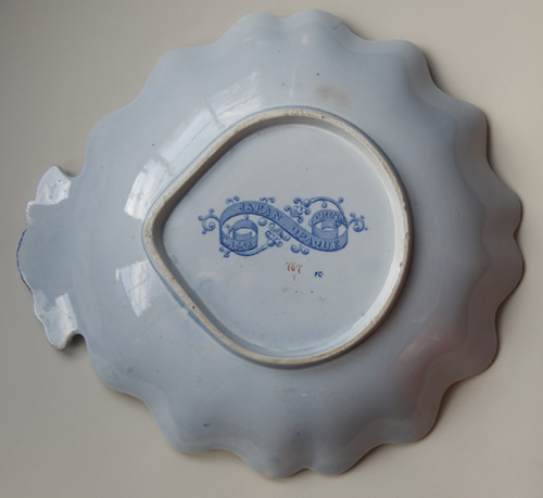 Pattern 767 shell dessert dish back