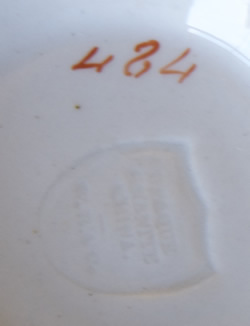 Pattern 484 tea cup marks