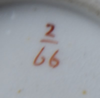 Pattern 2/66 cup pattern number