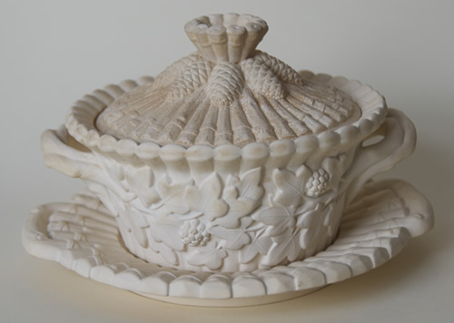 Sylvan covered butter dish and stand