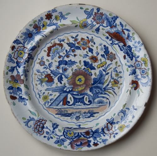 Pattern 844 dinner plate front