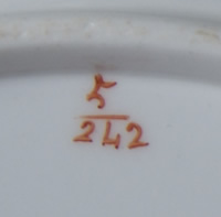 Pattern 5/242 bread and butter plate pattern number