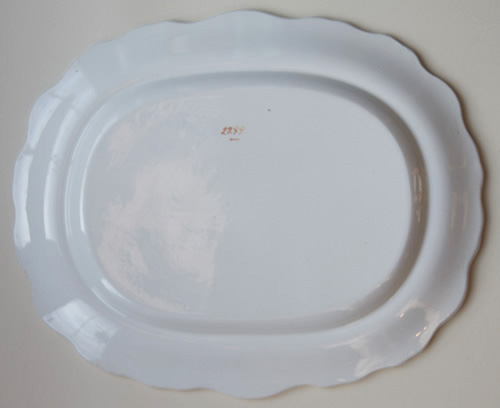 Pattern 2299 meat dish back