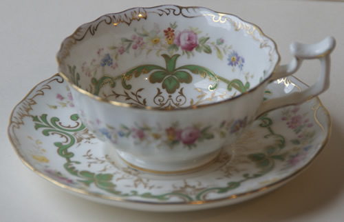 Pattern K/9926 tea cup and saucer