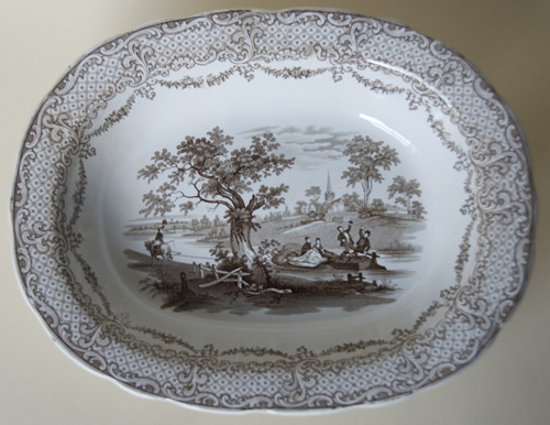Humphrey's Clock pie dish top