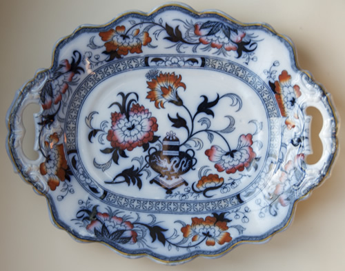 Pattern 5566 oval dessert dish front