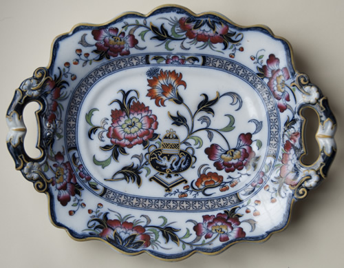 Pattern 3005 oval dessert dish front