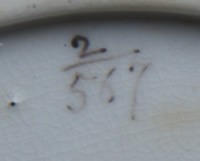 Pattern 2/567 saucer pattern number