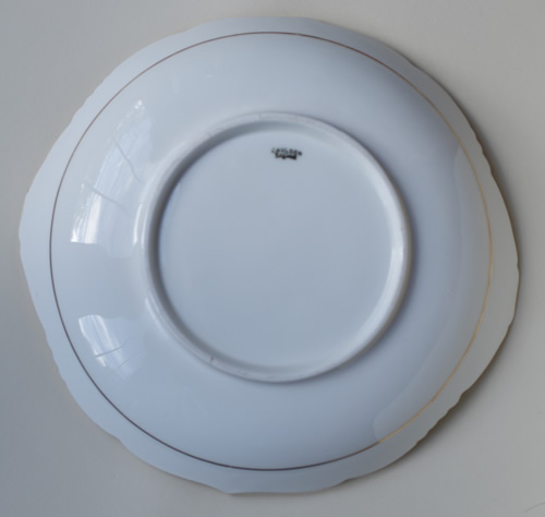 Pattern B/8414 round dish back