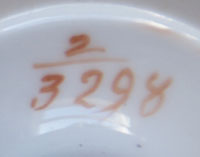 Pattern 2/3298 coffee cup pattern number