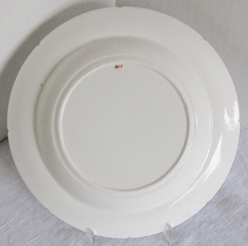Pattern 862 soup plate back