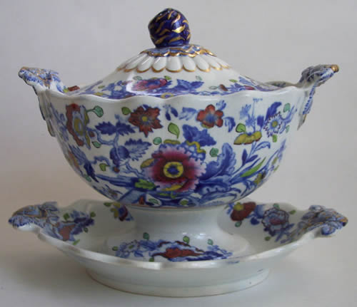 Pattern 844 dessert tureen side