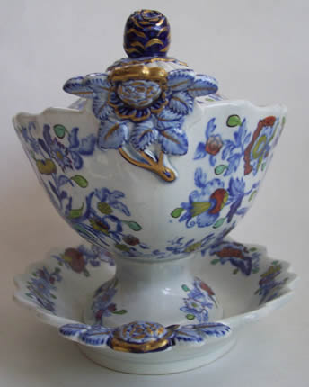 Pattern 844 dessert tureen end