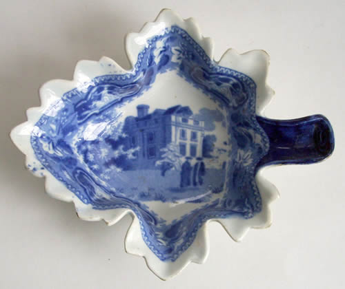 Christ's College leaf pickle dish front