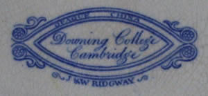 Downing College muffin backstamp