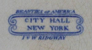 Beauties of America dinner plate backstamp