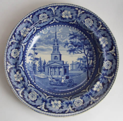 Beauties of America soup plate front