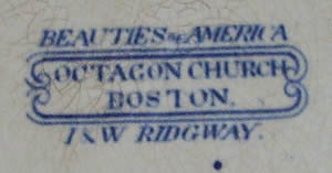 Beauties of America soup plate backstamp