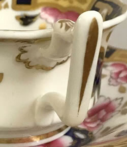 Pattern 2/1212 tea cup and saucer handle detail