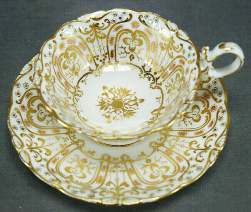 Pattern 4/89 tea cup and saucer