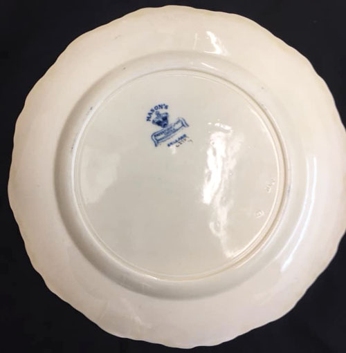 Pattern C/2703 plate back