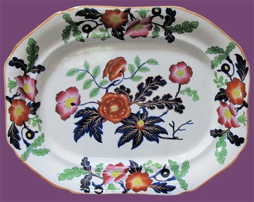 Pattern 993 meat dish front
