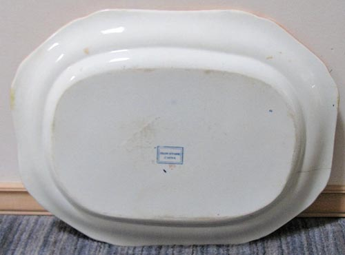 Pattern 993 meat dish back