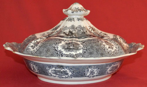Oriental covered vegetable dish side