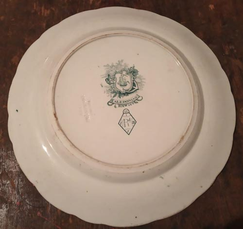 Caledonian ETA dinner plate back