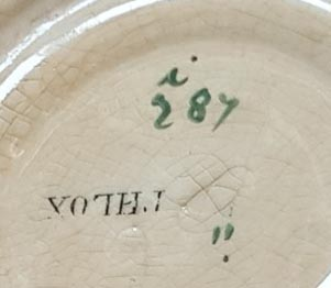 Pattern i/287 coffee saucer marks
