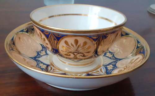 Pattern 396 cup and saucer