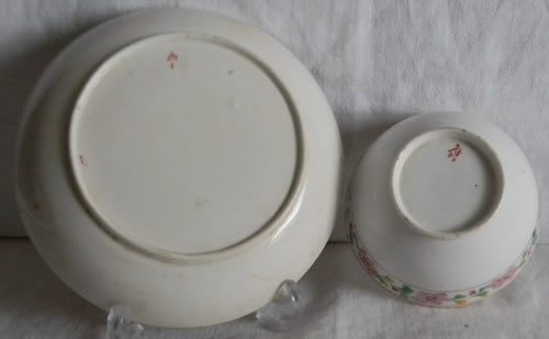 Pattern 2/415 cup and saucer backs