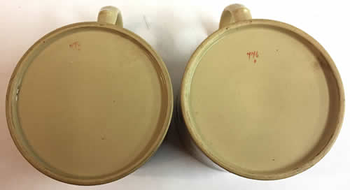 Pattern 776 pair of mugs base