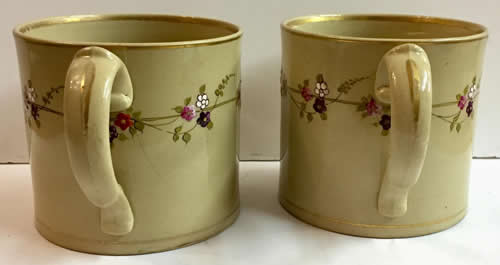 Pattern 776 pair of mugs handles