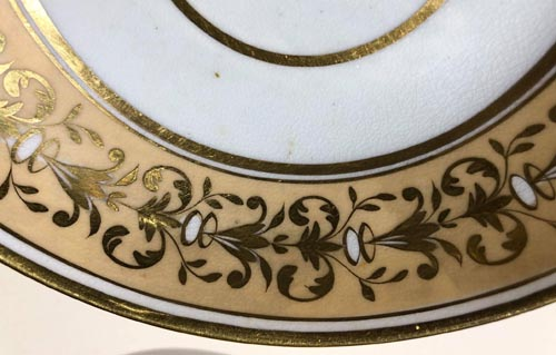 Pattern 2/444 saucer front detail